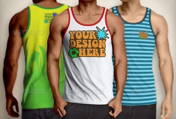 tank top mockup | men's - apparel mockups