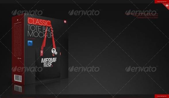 tote (linen) bag 6 scenes mock-up - apparel mockups