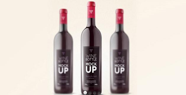 wine bottle mock-up psd - apparel mockups