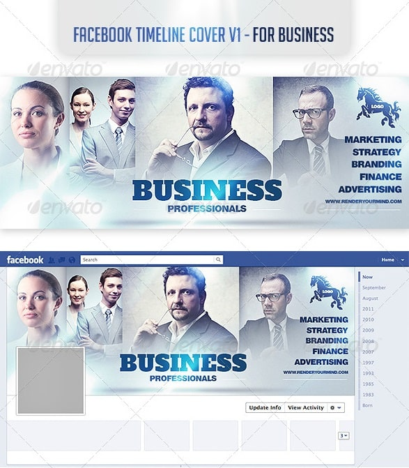 Premium and free facebook timeline cover templates 56pixels facebook timeline cover v1 for business pronofoot35fo Gallery