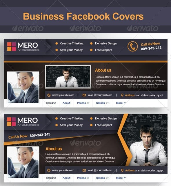 Premium and free facebook timeline cover templates 56pixels business facebook covers pronofoot35fo Gallery
