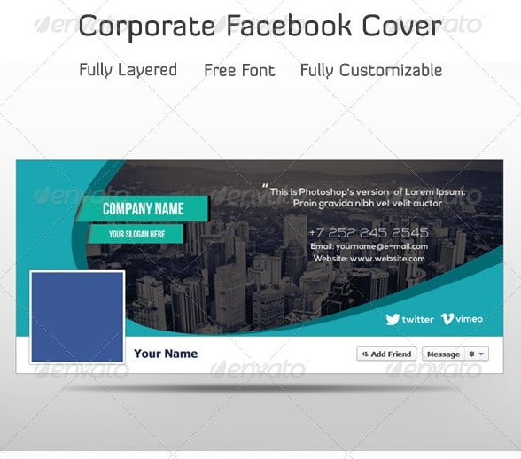 Premium and free facebook timeline cover templates 56pixels corporate facebook timeline pronofoot35fo Gallery