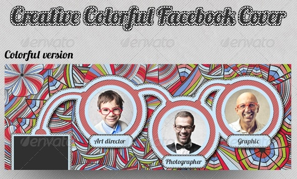 creative colorful sketch facebook cover
