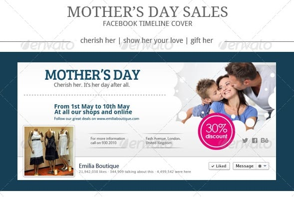 mothers day sales facebook cover