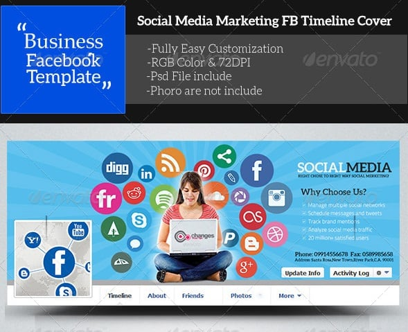 social media marketing facebook timeline cover