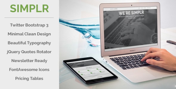 simplr | bootstrap 3 responsive landing page