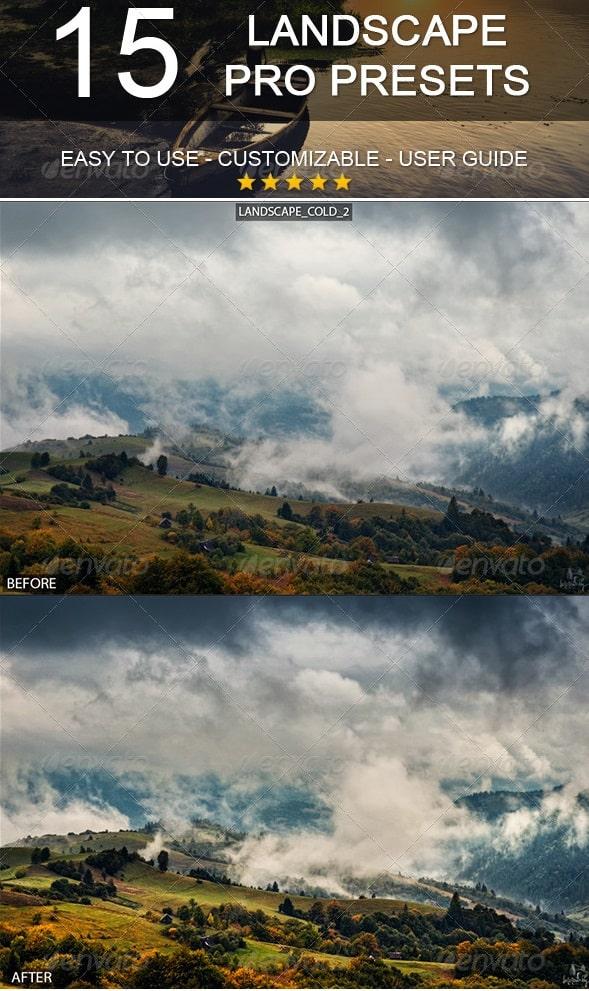 15 pro landscape presets
