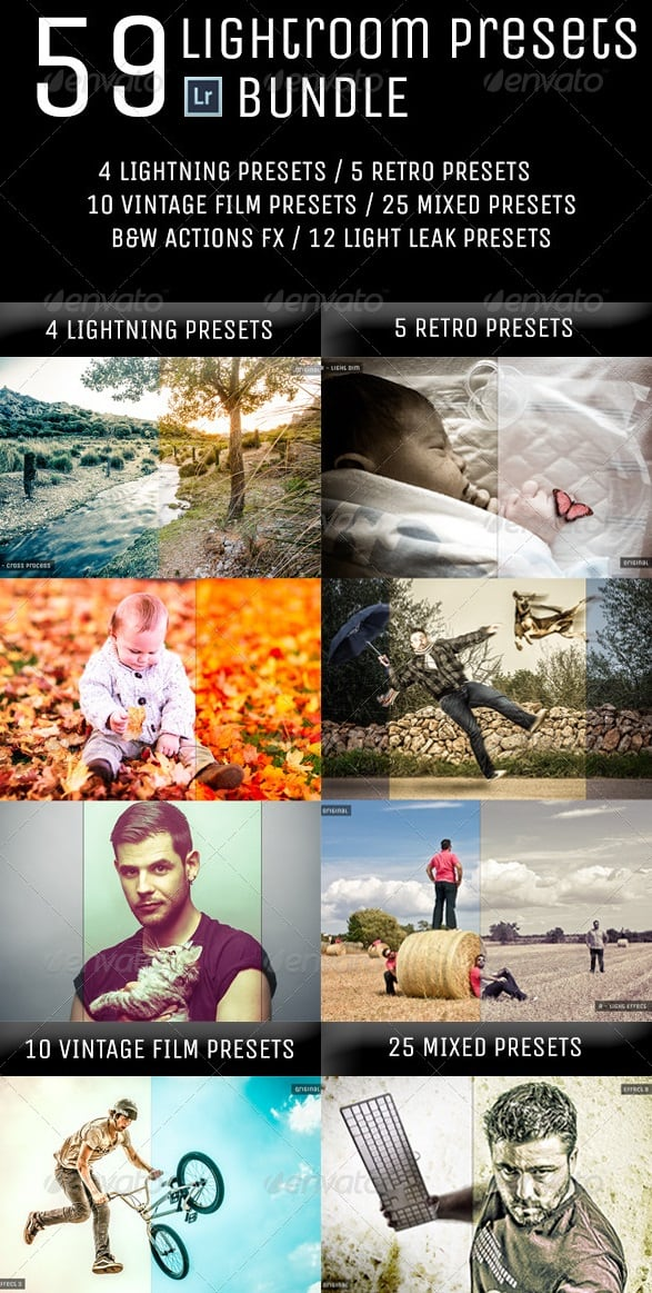 59 lightroom presets bundle