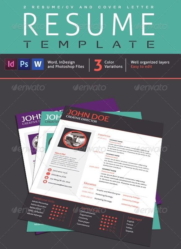 2 resume designs, 1 cover letter v01 - Resume/CV Templates