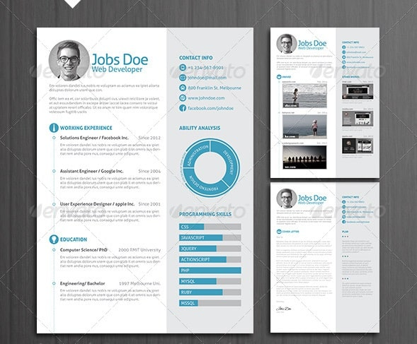 3 Page Resume/ Cv With Letter  Awesome Resumes