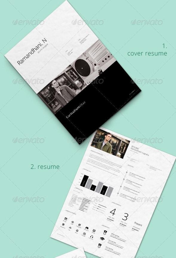 4 pieces minimal resume - Resume/CV Templates