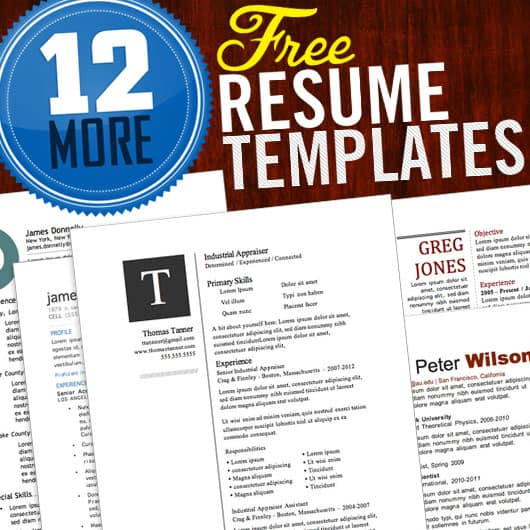awesome resume cv templates - Free Unique Resume Templates