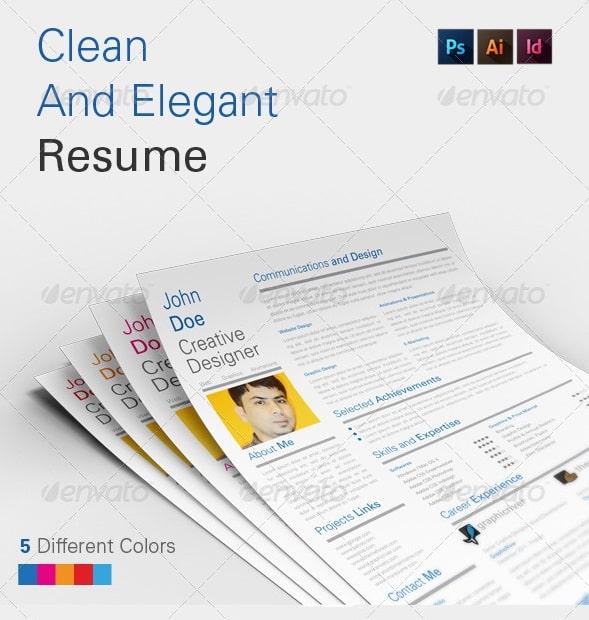 clean and elegant resume v1.0 - Resume/CV Templates