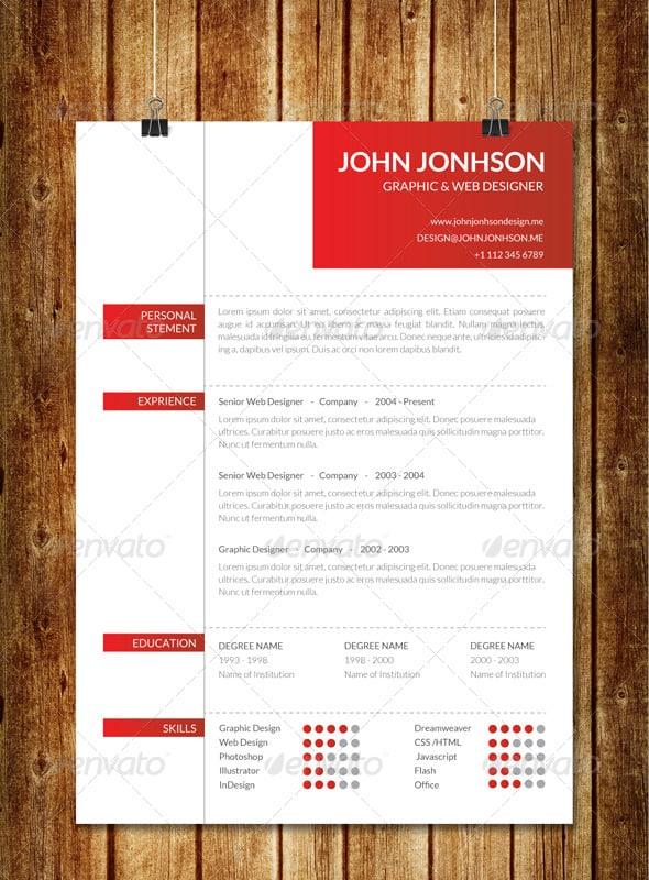 clean creative resume v2 - Resume/CV Templates
