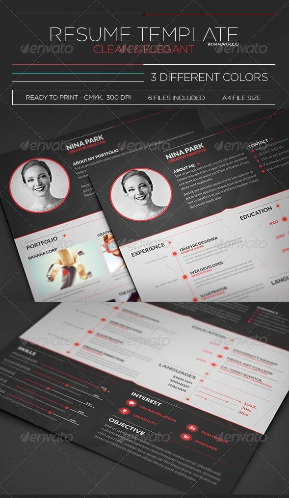 clean & elegant resume - Resume/CV Templates