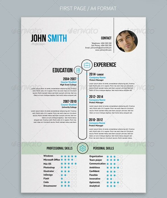 Design Creative Resume Curriculum Vitae Resume Design Design Cv Resume ...