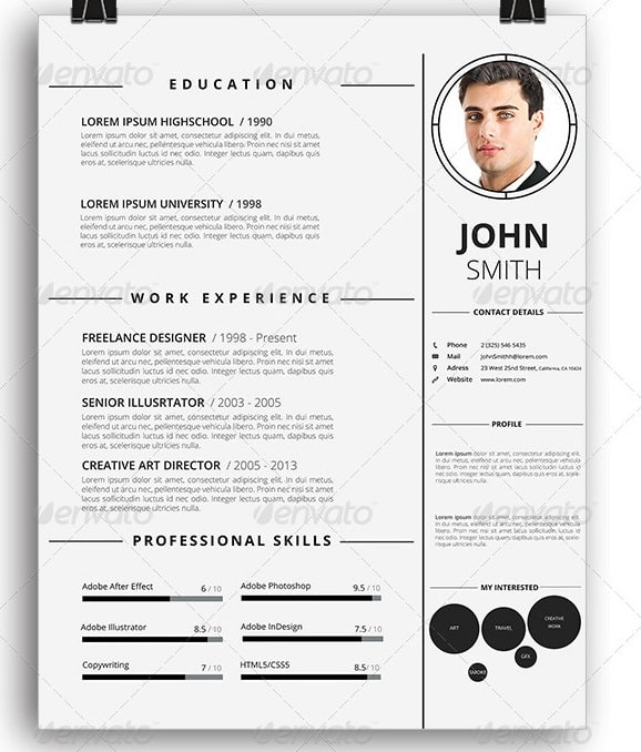 Awesome ResumeCv Templates  PixelsCom