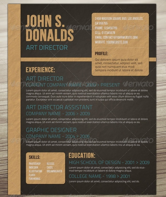 Craft Paper Style Resume  Awesome Resumes