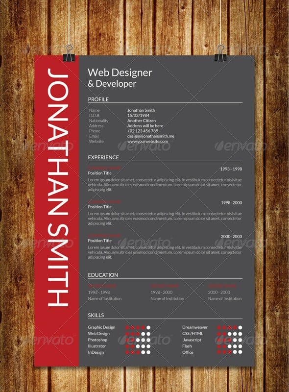 modern resume v1 - Resume Styles