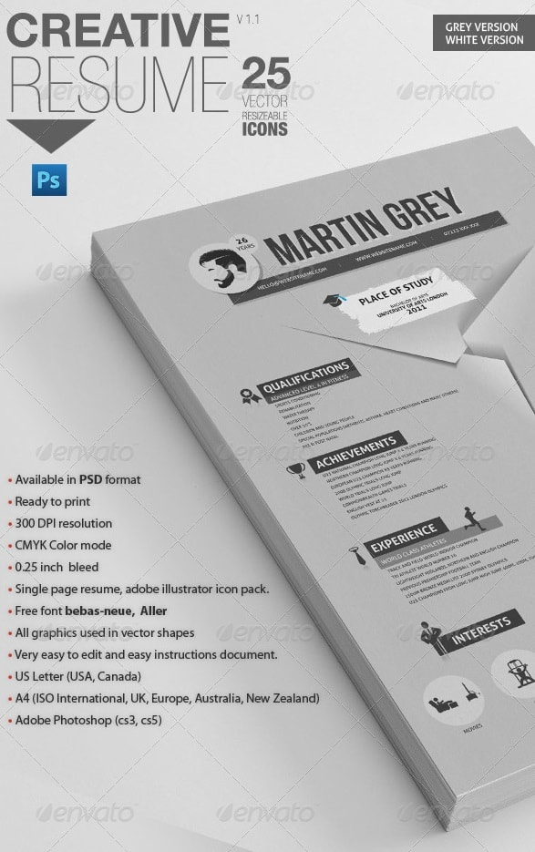 professional resume | for personal trainers - Resume/CV Templates