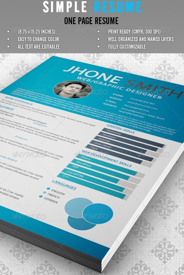 simple resume - Resume/CV Templates