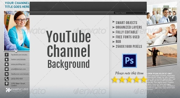 corporate youtube channel background template