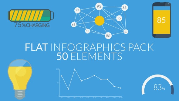 flat infographics pack (50 elements)