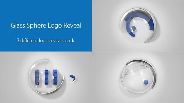 glass sphere logo reveal