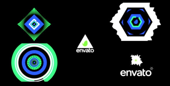 logo reveal futuristic geometry