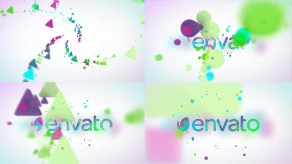 minimal particles logo