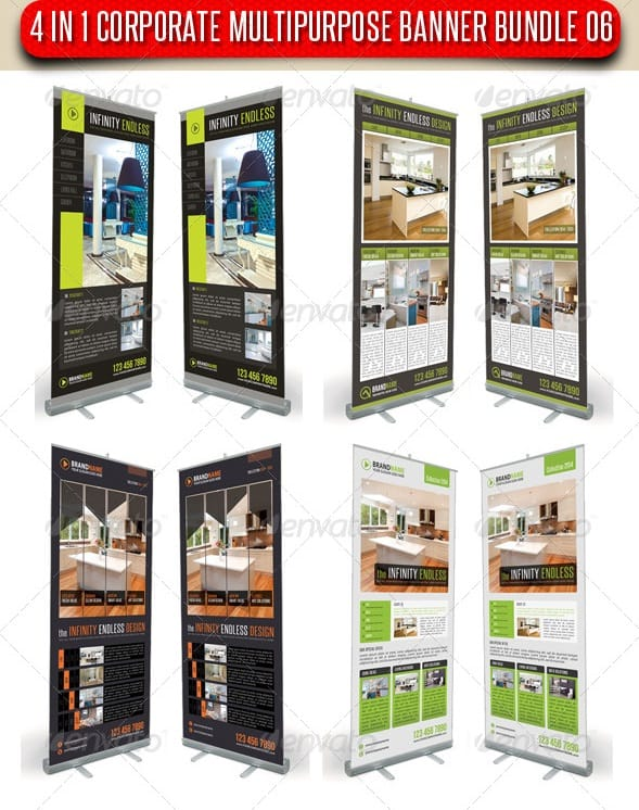 4 in 1 corporate multipurpose banner bundle 06
