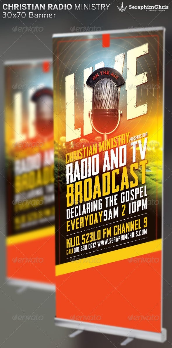 christian radio ministry: banner template