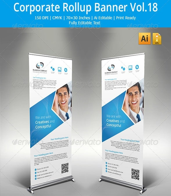 corporate roll up banner vol.18