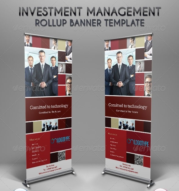 investment management rollup banner template