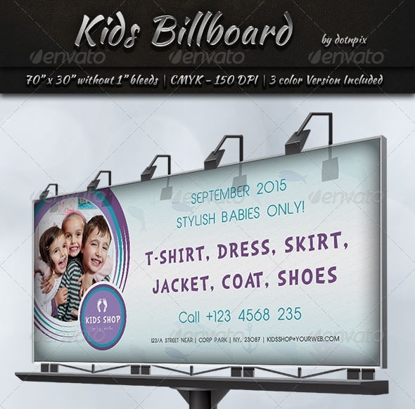 kids billboard template