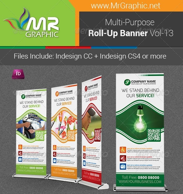multi-purpose business roll-up banner vol-13