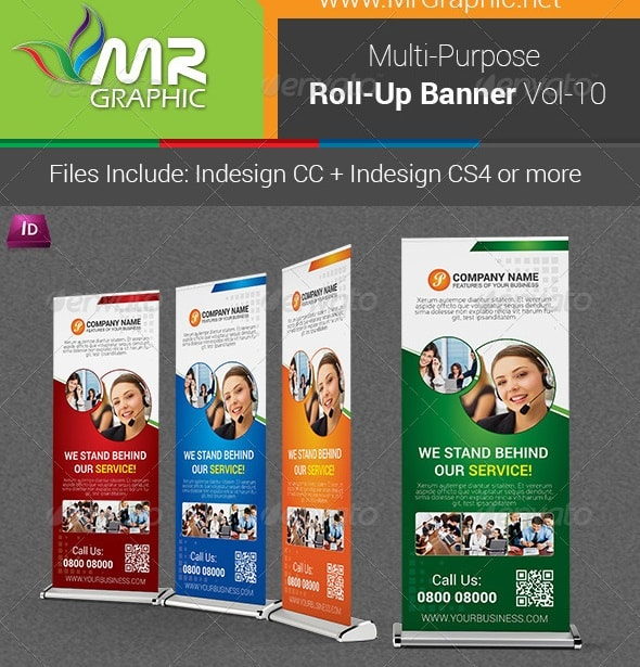 multipurpose business roll-up banner vol-10