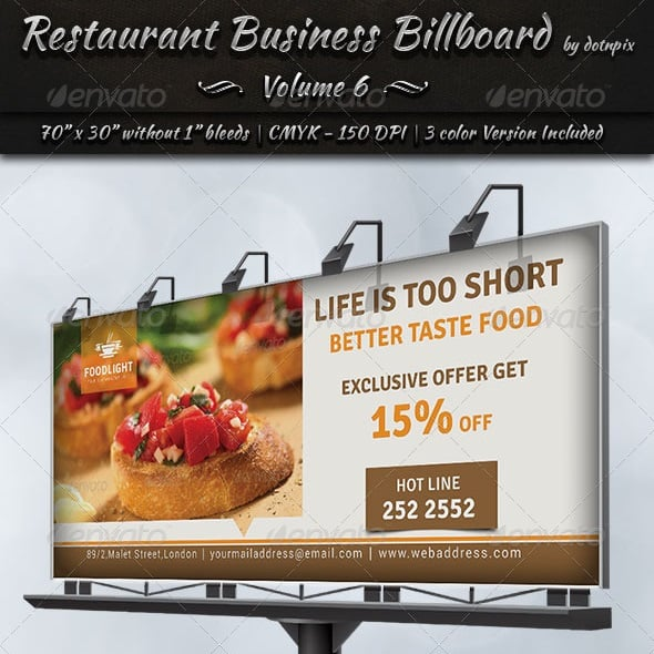restaurant business billboard | volume 6