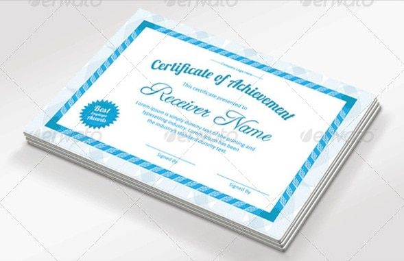 achievement certificate pack