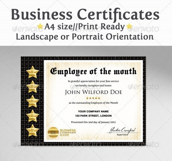 business & company certificates