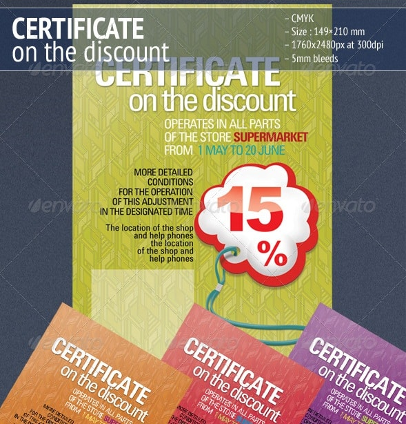 certificate on the discount 3