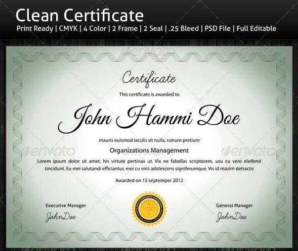 Certificate Templates Free PSD Download - 56pixels.com