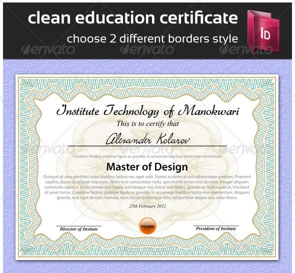 indesign gift certificate template