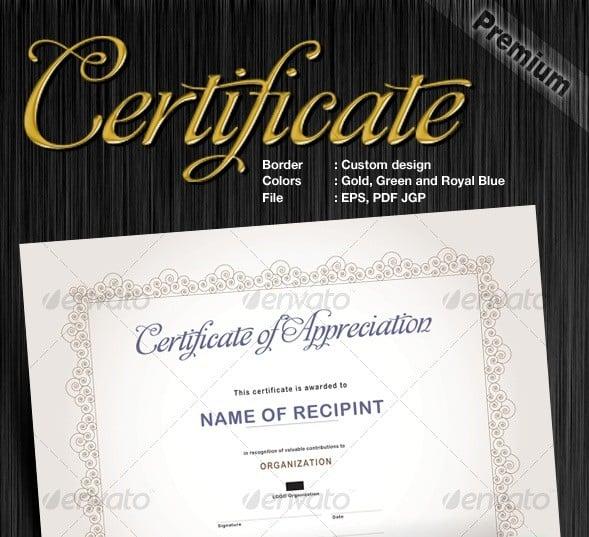 custom made certificates design