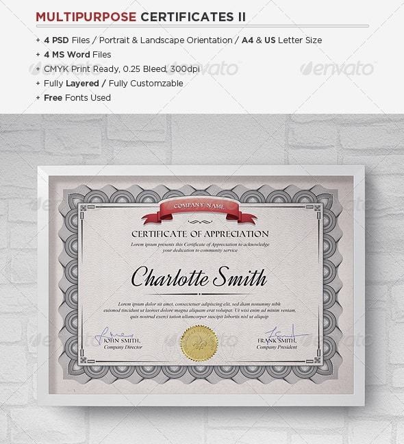 Free and premium certificate template 56pixels multipurpose certificates ii pronofoot35fo Gallery