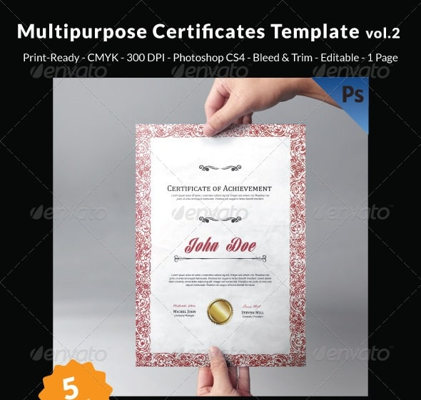 Free and premium certificate template 56pixels multipurpose certificates template vol2 yelopaper Image collections