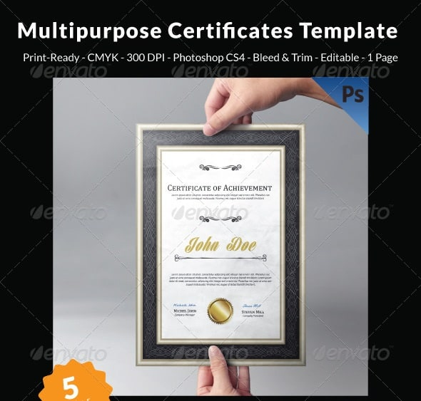 multipurpose certificates template