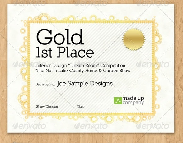 stylish award certificate