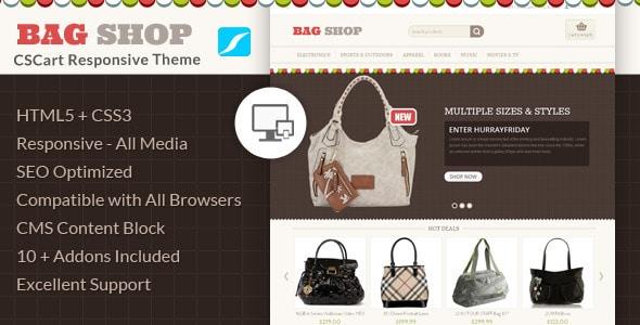 bag shop - cs-cart responsive theme