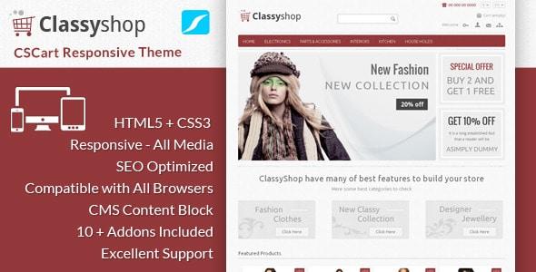 classyshop - cs cart responsive theme
